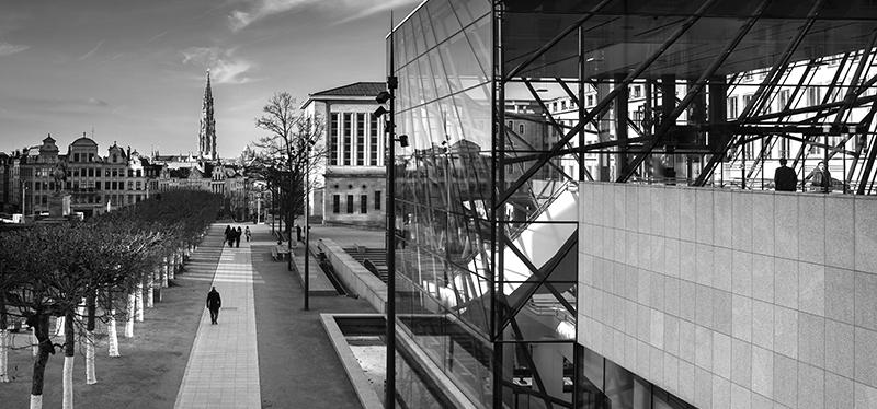 vue sur le centre ville bruxelles